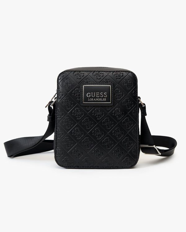 Guess Dan Logo Mini Doc Case - Black HMDNLEP0217-BLA 7618584365021 Guess Bags