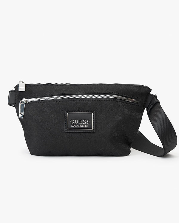 Guess Dan Logo X-Over Pouch - Black HMDNLJP0251-BLA 7618584449394 Guess Bags