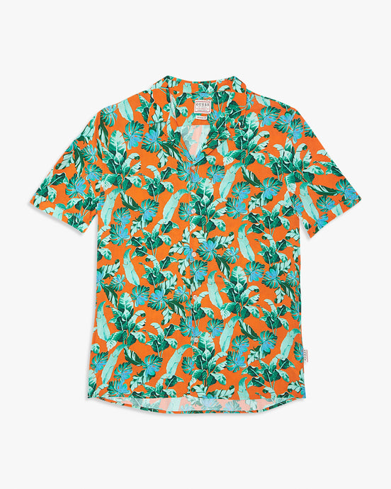 Guess S/S Resort Shirt - Hawaiian / Orange Guess Shirts