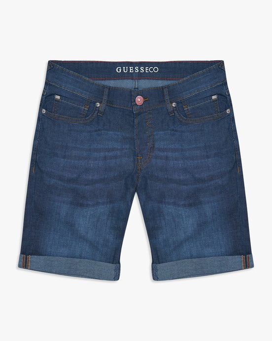 Guess Sonny Featherweight Denim Shorts - Mid Blue W30 M02D01D3ZM130 7618584401354 Guess Shorts