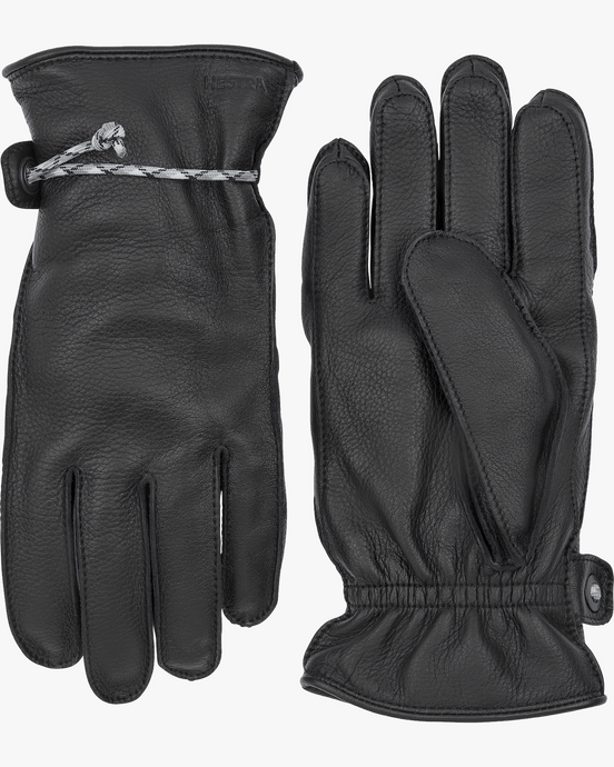 Hestra Granvik Elk Leather Gloves - Black / Black 7 20640-1001007 7332904015228 Hestra Gloves