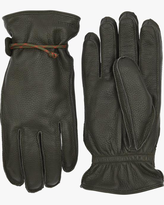 Hestra Granvik Elk Leather Gloves - Dark Forest / Dark Forest 7 20640-8618617 7332904053596 Hestra Gloves