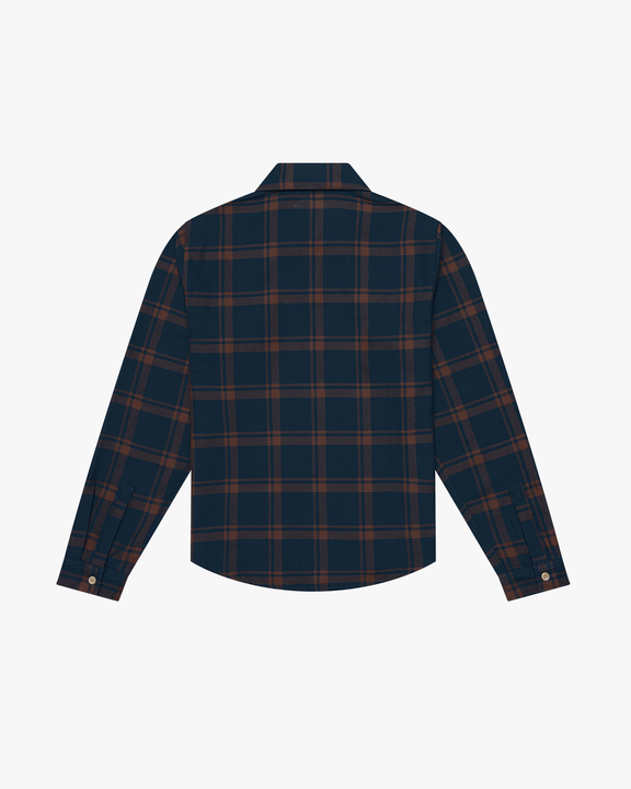 Knickerbocker Flannel Work Shirt - Dark Tan / Blue Knickerbocker Shirts