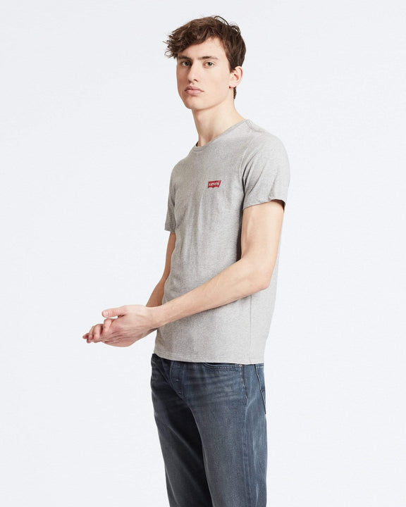Levi's® 2-Pack Housemark Logo Crew Neck Tees - White / Mid Tone Grey Heather Levi's® T Shirts