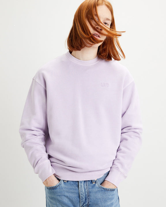 Levi's® Authentic Logo Crew Neck Sweat - FT Garment Dye Lavender Frost S 85531-0007S 5400898434973 Levi's® Sweaters & Knitwear