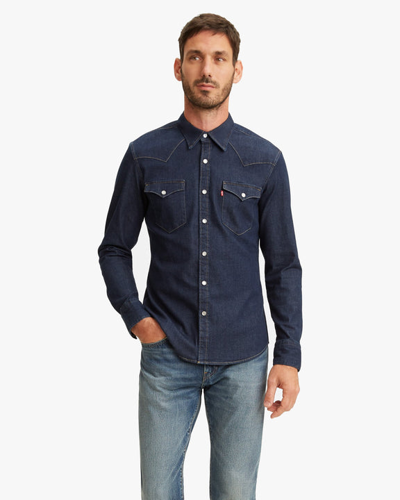 Levi's® Barstow Western Slim Shirt - Red Cast Rinse Stretch Levi's® Shirts