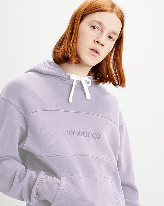 Levi's® Relaxed Fit Novelty Hoodie - Blocked Garment Dye Lavender Frost S 35872-0001S 5400898435574 Levi's® Sweaters & Knitwear