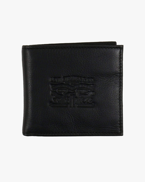 Levi's® Vintage Two Horse Bifold Coin Leather Wallet - Black 222539-59 7613267877402 Levi's® Wallets & Key Fobs Levis Vintage Two Horse Vertical Leather Wallet - Black - Jeans and Street Fashion from Jeanstore