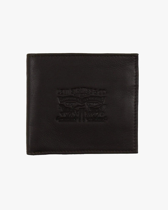 Levi's® Vintage Two Horse Bifold Coin Leather Wallet - Dark Brown 222539-29 7613267877396 Levi's® Wallets & Key Fobs Levis Vintage Two Horse Vertical Leather Wallet - Dark Brown - Jeans and Street Fashion from Jeanstore