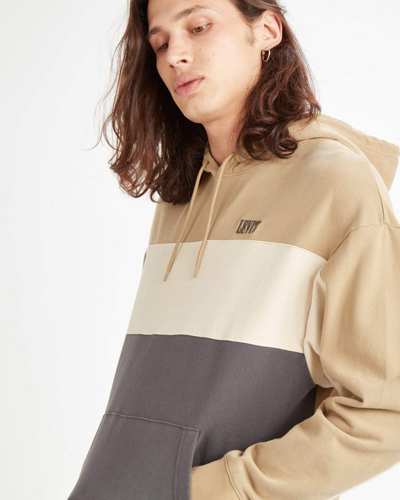 Levi's® Wavy Colorblock Hoodie - Harvest Gold / Fog / Forged Iron Levi's® Sweaters & Knitwear