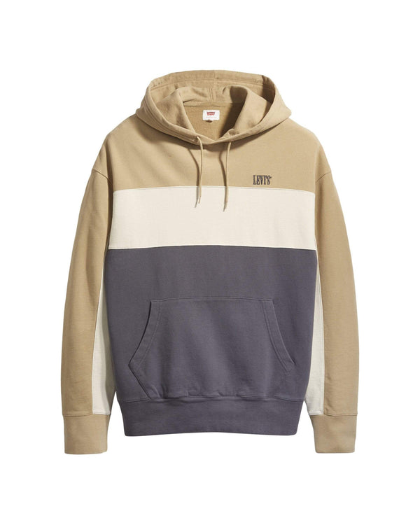Levi's® Wavy Colorblock Hoodie - Harvest Gold / Fog / Forged Iron S 855370000S 5400816707202 Levi's® Sweaters & Knitwear