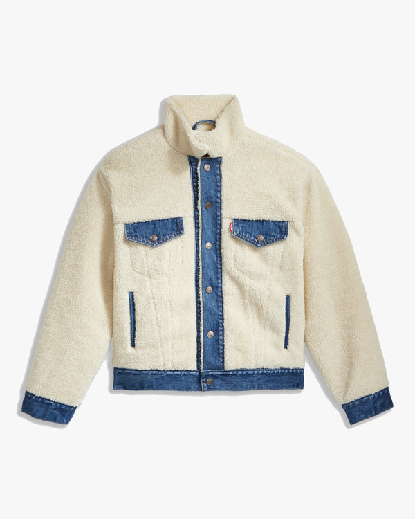 Levi's® Womens Ex-BF Pieced Trucker Jacket - Counting Sheep XS 39386-0001XS 5400898404051 Levi's® Jackets & Coats