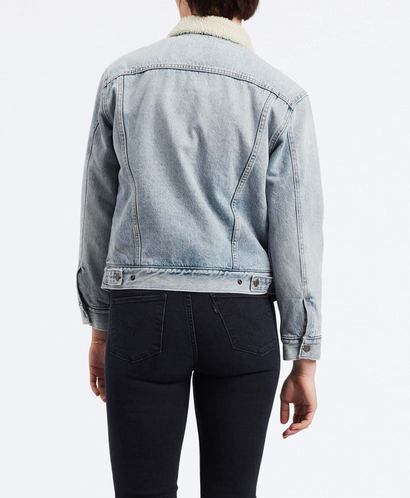 Levi's® Womens Ex-Boyfriend Sherpa Trucker Jacket - Strangerways Levi's® Jackets & Coats