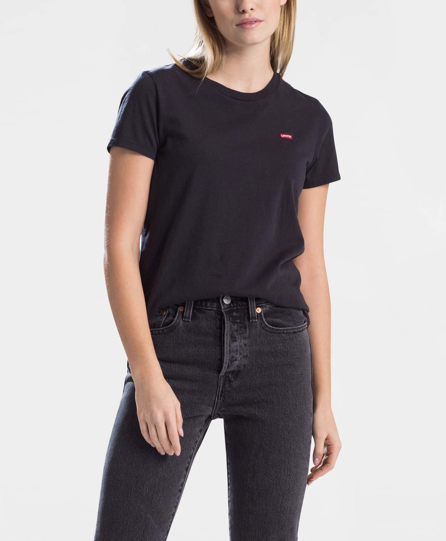 Levi's® Womens Perfect Tee - Small Batwing / Mineral Black XS 391850008XS 5400599010681 Levi's® T Shirts