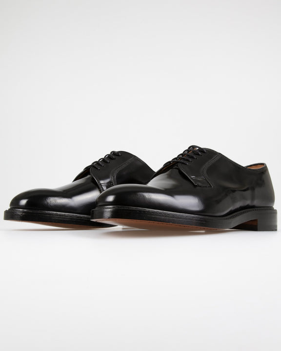 Loake 771B Polished Plain Derby Shoe - Black Loake Shoemakers Shoes