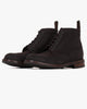 Loake Bedale Brogue Boot - Dark Brown Waxed Suede Loake Shoemakers Boots