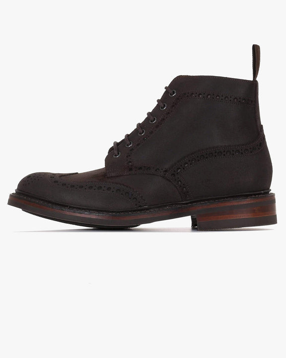 Loake Bedale Brogue Boot - Dark Brown Waxed Suede UK 7 BEDDKW7 5050362250501 Loake Shoemakers Boots