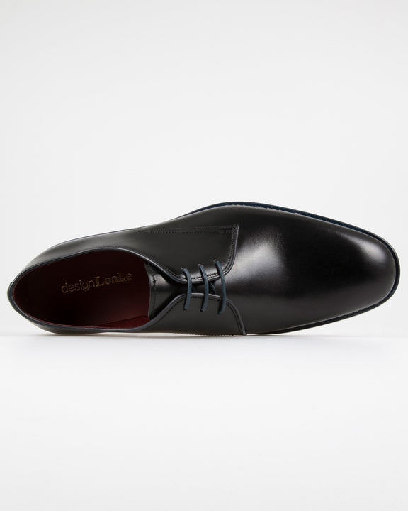 Loake Drake Plain Derby Shoe - Black Loake Shoemakers Shoes Loake Drake Plain Derby Shoe - Black - Jeans and Street Fashion from Jeanstore
