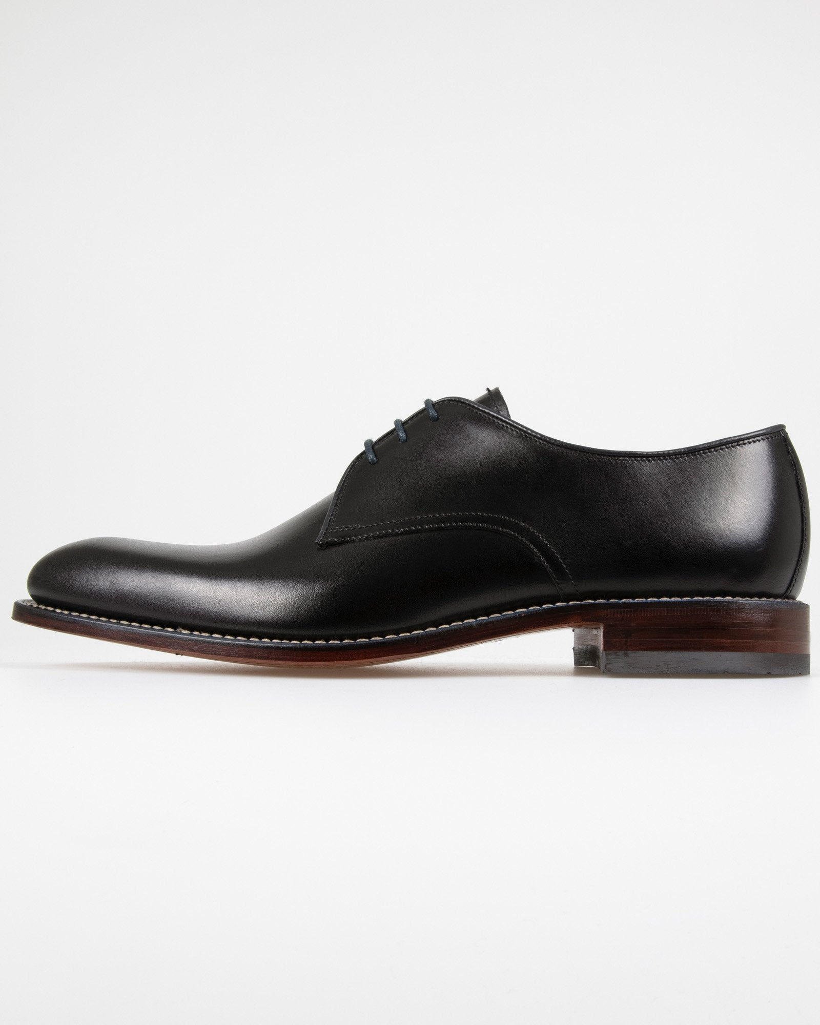 Loake Drake Plain Derby Shoe - Black UK 7 DRAB7 5050362202616 Loake Shoemakers Shoes Loake Drake Plain Derby Shoe - Black - Jeans and Street Fashion from Jeanstore
