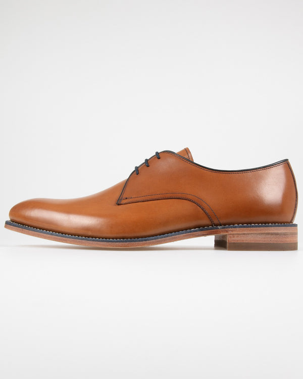 Loake Drake Plain Derby Shoe - Tan UK 10 DRAT10 5050362202937 Loake Shoemakers Shoes