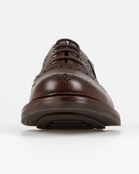 Loake Edward Brogue Oxford - Dark Brown Loake Shoemakers Shoes Loake Edward Brogue Oxford - Dark Brown - Jeans and Street Fashion from Jeanstore