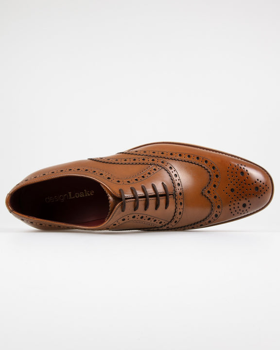 Loake Fearnley Brogue Oxford - Dark Brown Loake Shoemakers Shoes Loake Fearnley Brogue Oxford - Dark Brown - Jeans and Street Fashion from Jeanstore