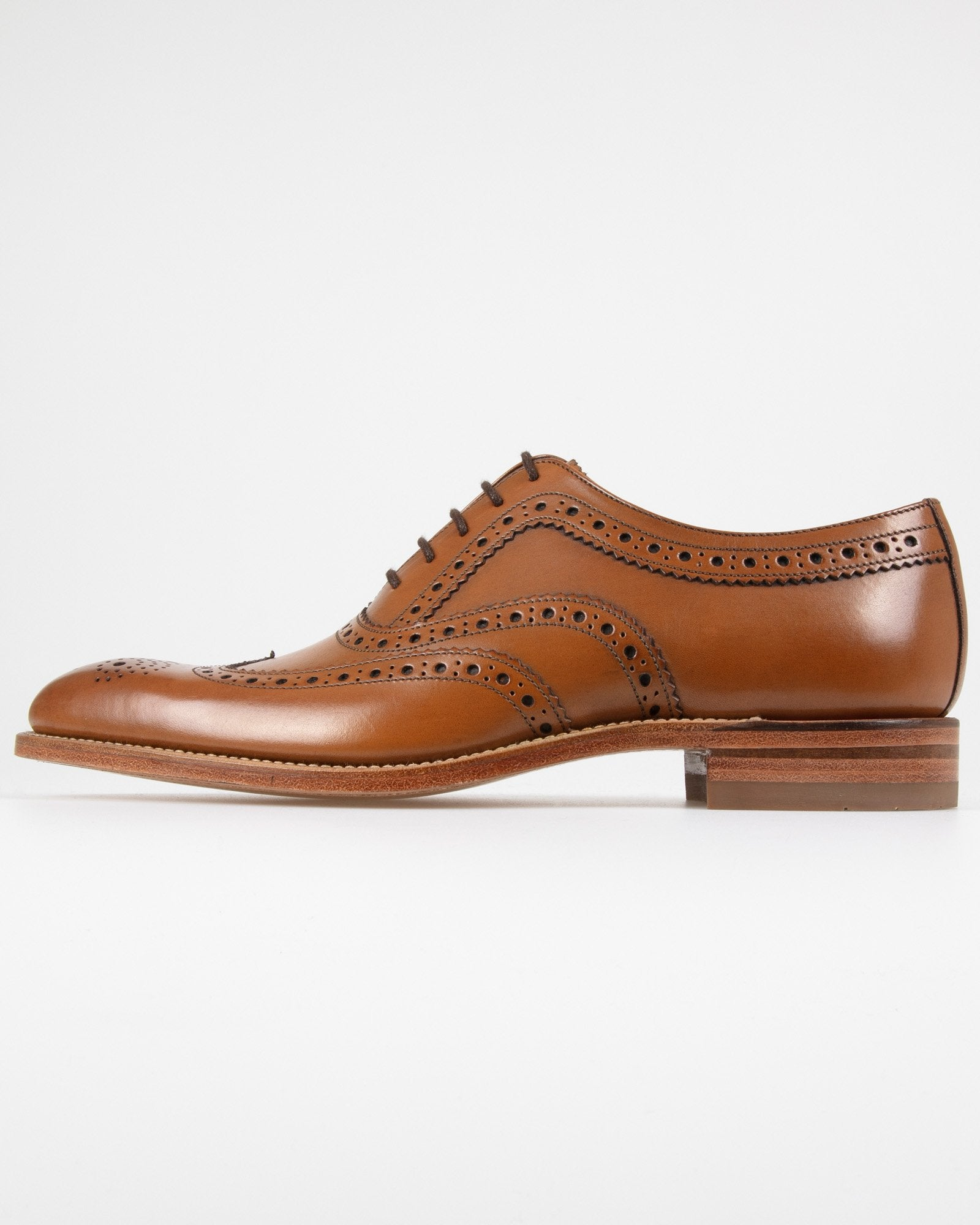 Loake Fearnley Brogue Oxford - Dark Brown UK 7 FEADK7 5050362202487 Loake Shoemakers Shoes Loake Fearnley Brogue Oxford - Dark Brown - Jeans and Street Fashion from Jeanstore