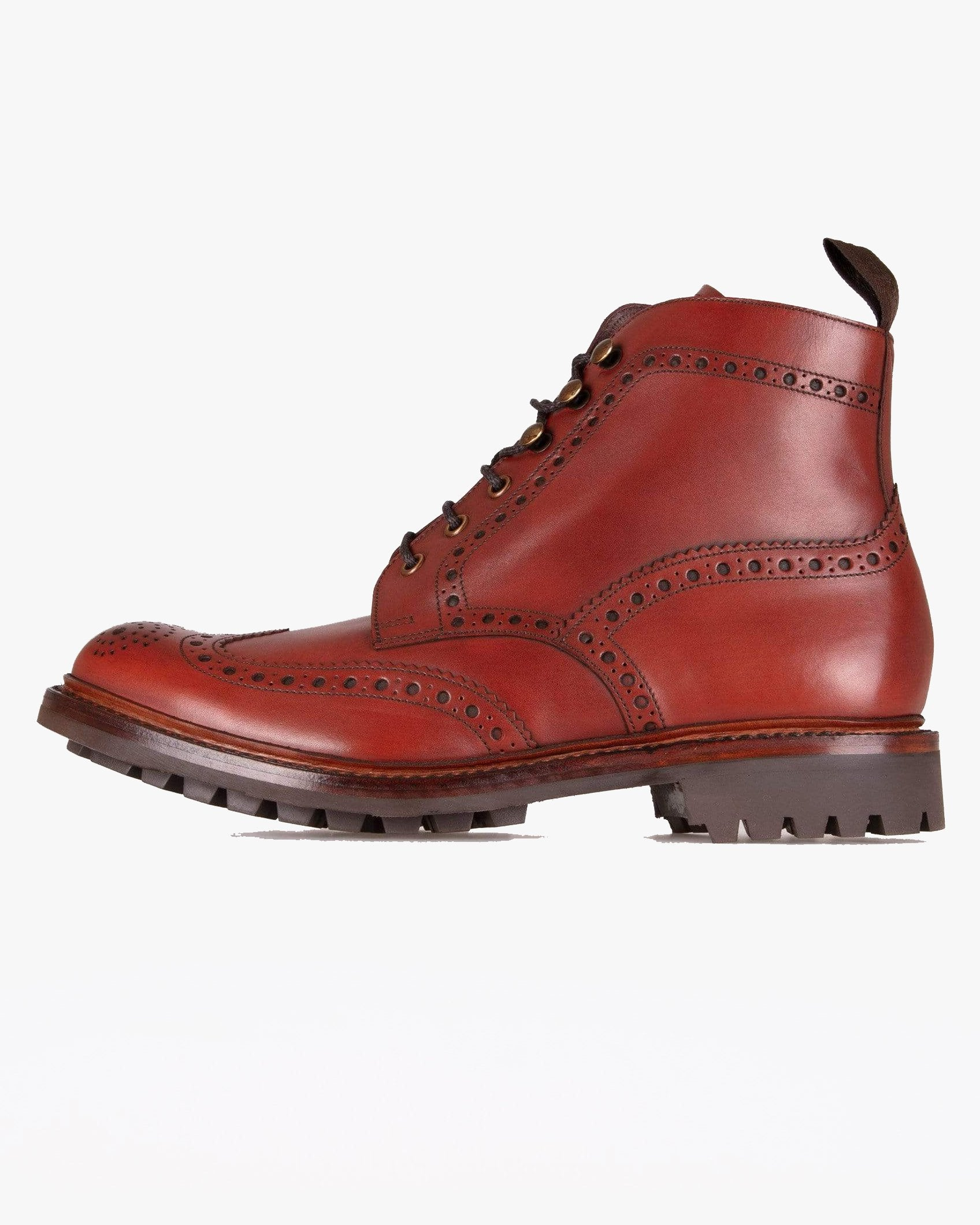 Loake Glendale Burnished Brogue Boot - Conker UK 7 GLEC7 5050362263211 Loake Shoemakers Boots