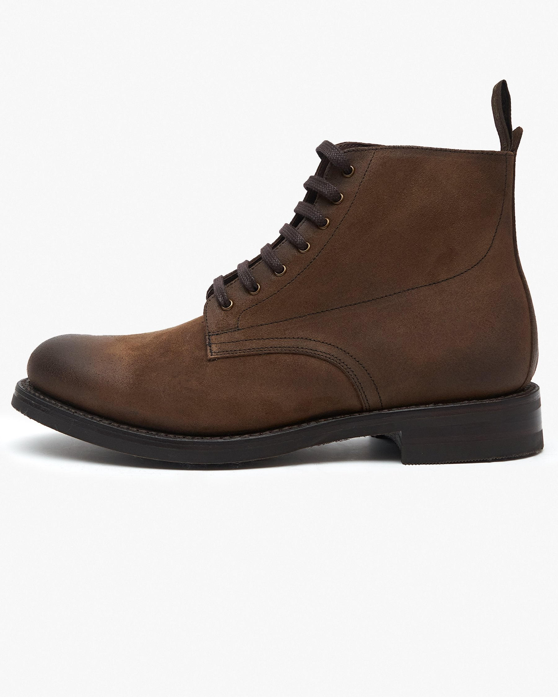 Loake Hebden Derby Boot - Brown Suede UK 7 HEBS7 5050362323007 Loake Shoemakers Boots