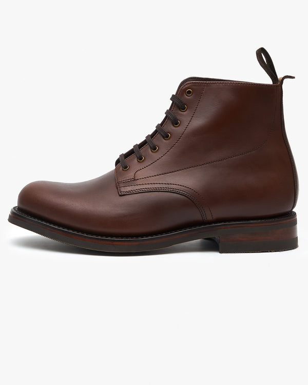 Loake Hebden Derby Boot - Brown Waxy UK 7 HEBCHW7 5050362322901 Loake Shoemakers Boots