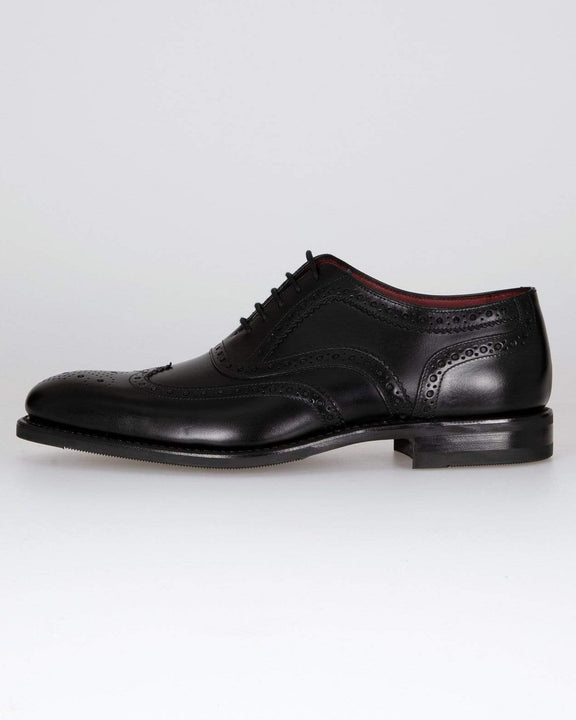 Loake Kerridge Oxford Brogue - Black UK 7 KERB7 5050362257036 Loake Shoemakers Shoes