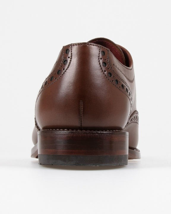 Loake Kruger Derby Brogue - Dark Brown Loake Shoemakers Shoes Loake Kruger Derby Brogue - Dark Brown - Jeans and Street Fashion from Jeanstore