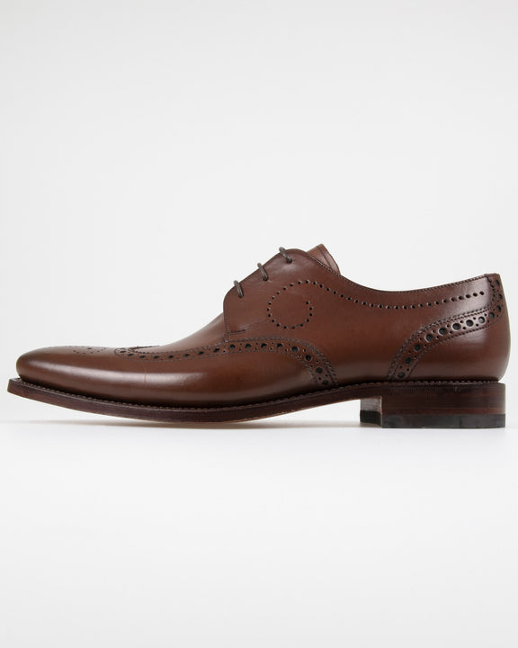 Loake Kruger Derby Brogue - Dark Brown UK 7 KRUDK7 5050362232460 Loake Shoemakers Shoes Loake Kruger Derby Brogue - Dark Brown - Jeans and Street Fashion from Jeanstore