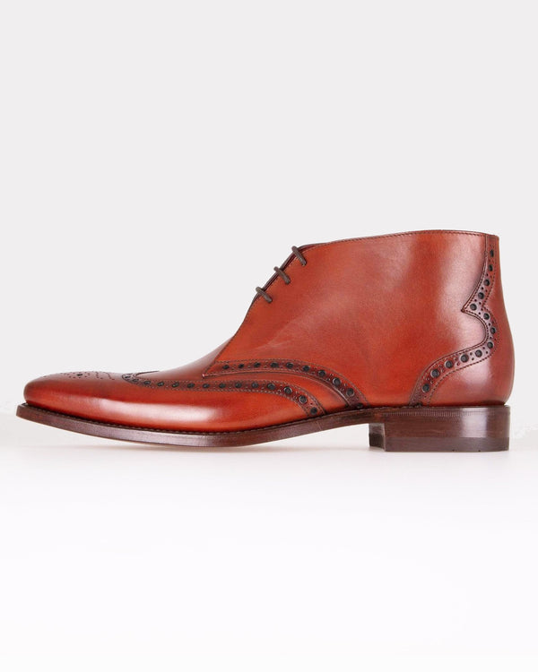 Loake Murdock Brogue Derby Ankle Boot - Chestnut UK 7 MURCH7 5050362265550 Loake Shoemakers Boots