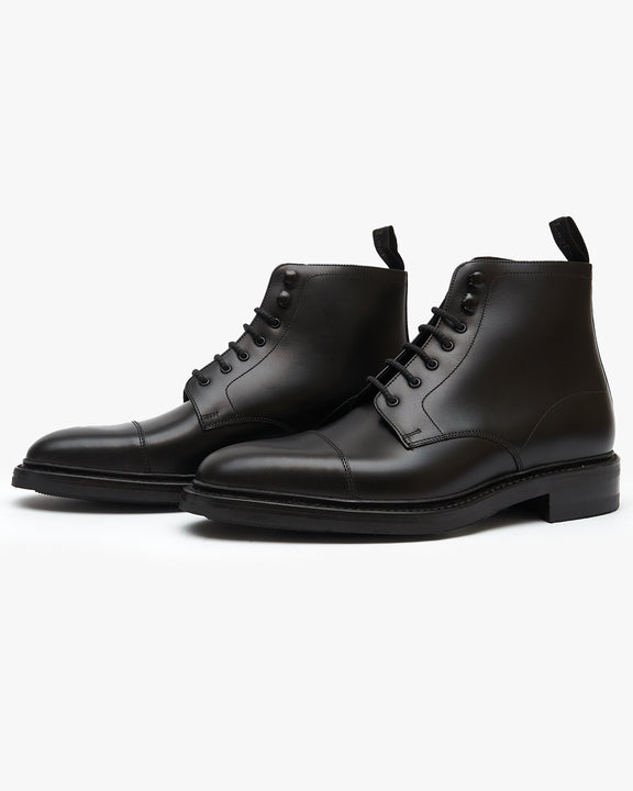 Loake Roehampton Derby Boot - Black Loake Shoemakers Boots