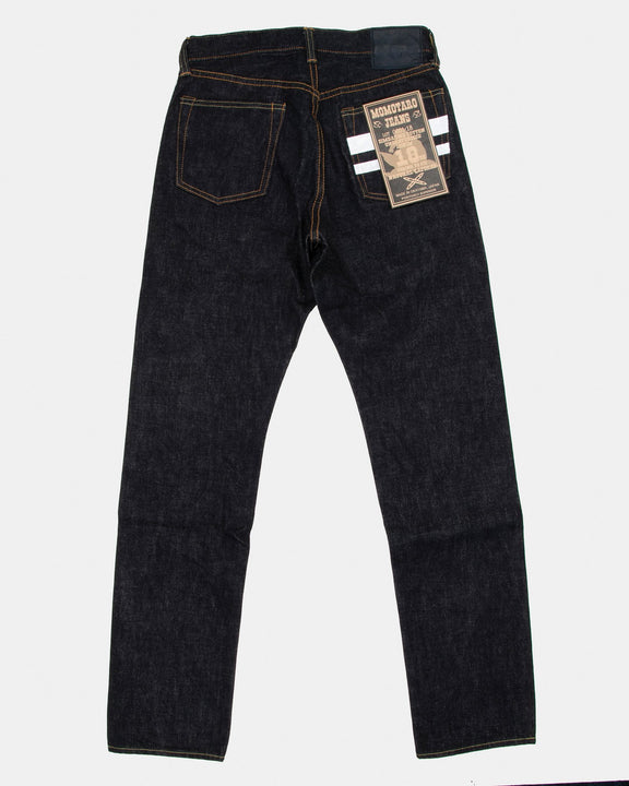 Momotaro (18oz Zimbabwe Cotton Unsanforized Selvedge Denim) Natural Tapered Mens Jeans - Indigo OW Momotaro Jeans Jeans