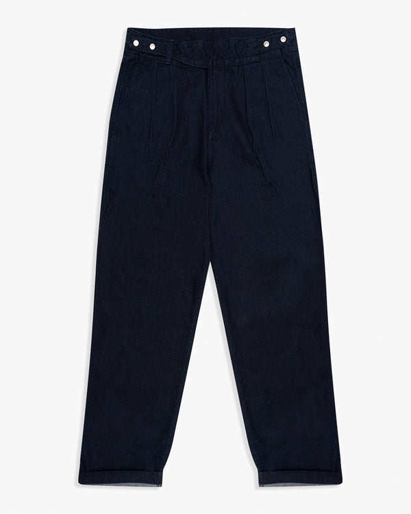 Momotaro Denim Gurkha Military Trousers - Indigo W30 L31 01-08530 Momotaro Jeans Chinos & Non-Denim Pants