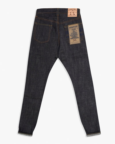 Momotaro High Tapered Mens Jeans - 16oz US x Revival Selvedge Denim / Indigo Embroidery - GTB Stripe Momotaro Jeans Jeans