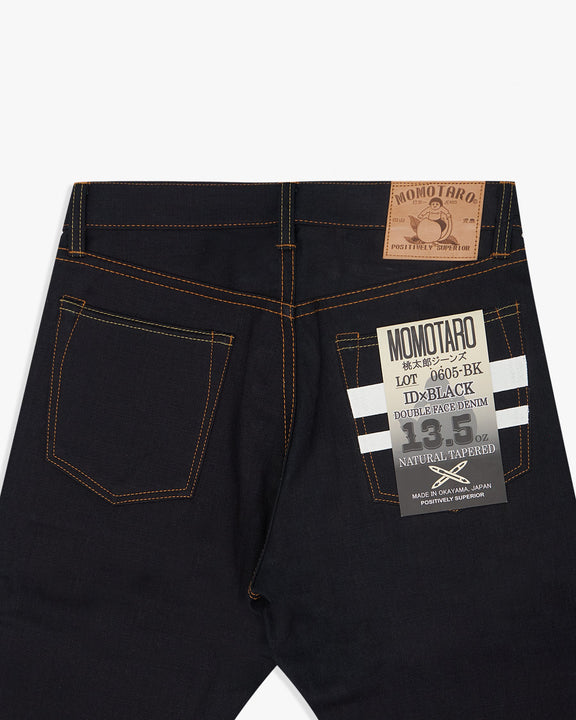 Momotaro Natural Tapered Mens Jeans - 13.5oz Double Face Selvedge Denim / Indigo x Black - GTB Stripe Momotaro Jeans Jeans