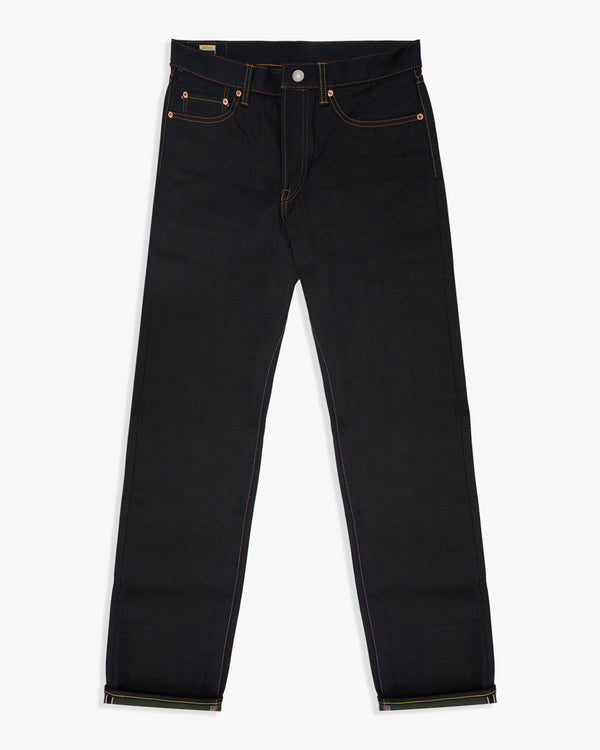 Momotaro Natural Tapered Mens Jeans - 13.5oz Double Face Selvedge Denim / Indigo x OD - GTB Stripe W30 L34 0605-GRSP30L 4573498474517 Momotaro Jeans Jeans