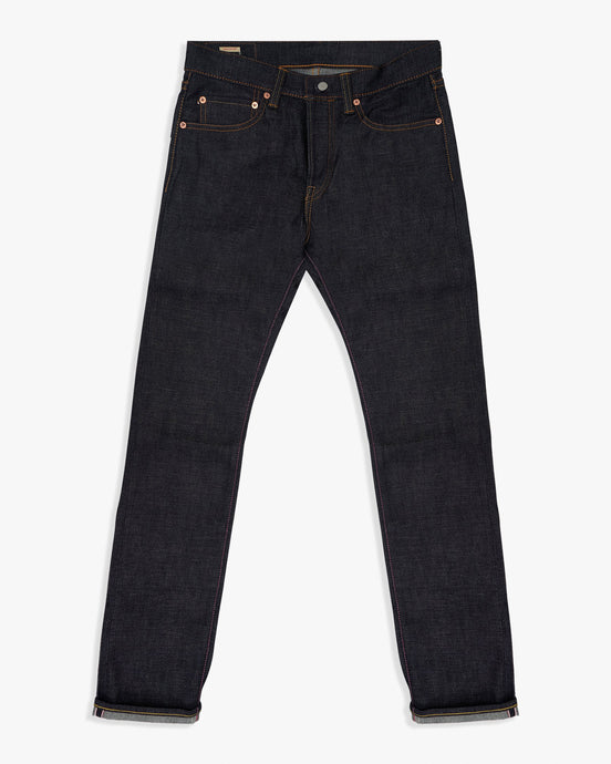 Momotaro Natural Tapered Mens Jeans - 15.7oz Zimbabwe Cotton Selvedge Denim / Indigo - GTB Stripe W30 L34 0605-SP30L 4589899712424 Momotaro Jeans Jeans