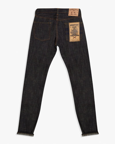 Momotaro Tight Tapered Mens Jeans - 16oz US x Revival Selvedge Denim / Indigo Embroidery - GTB Stripe Momotaro Jeans Jeans