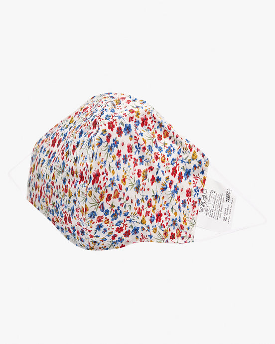 Naked & Famous Denim Protection Face Mask - Flowers Print White / Multi S/M CC90192099-1 675270196892 Naked & Famous Denim Miscellaneous