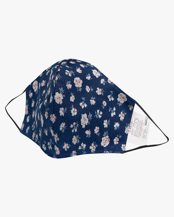 Naked & Famous Denim Protection Face Mask - Indigo Romantic Flowers S/M BB90192099-1 675270196878 Naked & Famous Denim Miscellaneous