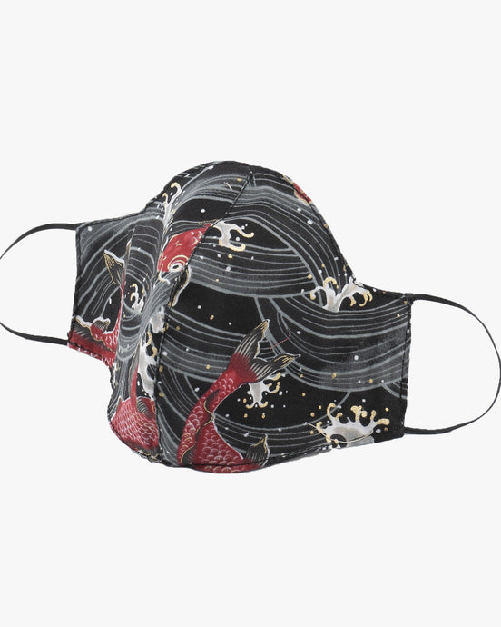 Naked & Famous Denim Protection Face Mask - Koi Fish / Black S/M M90192099-1 675270190128 Naked & Famous Denim Miscellaneous