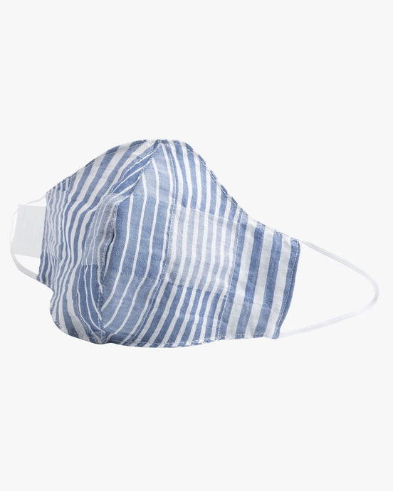 Naked & Famous Denim Protection Face Mask - Striped Windowpane / Blue S/M DD90192099-1 675270196854 Naked & Famous Denim Miscellaneous
