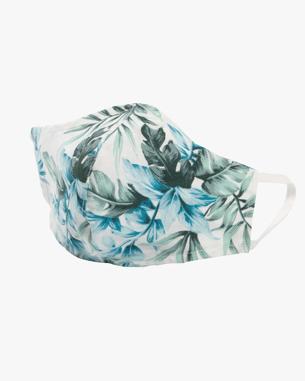 Naked & Famous Denim Protection Face Mask - Tropical Print / White Naked & Famous Denim Miscellaneous