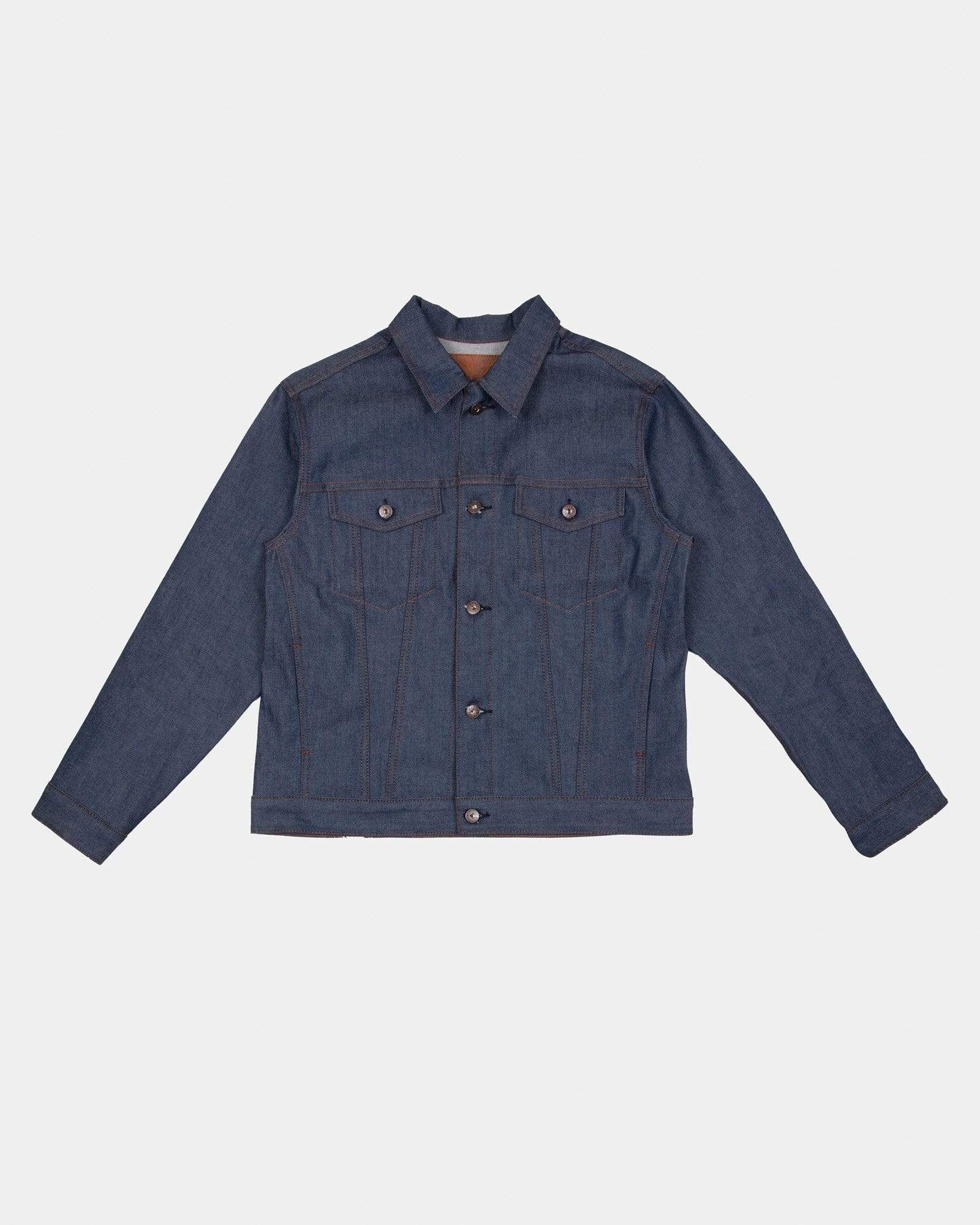 Naked & Famous Stealth Pocket Denim Jacket - Natural Indigo Selvedge M 164050164M 675270148990 Naked & Famous Denim Jackets & Coats