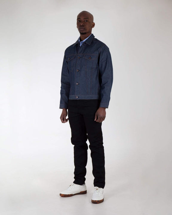 Naked & Famous Stealth Pocket Denim Jacket - Natural Indigo Selvedge Naked & Famous Denim Jackets & Coats