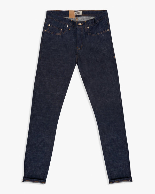 Naked & Famous Weird Guy Slim Tapered Mens Jeans - Elephant 9 Wild Blue Selvedge / Indigo W30 L35 10160280330 675270160299 Naked & Famous Denim Jeans
